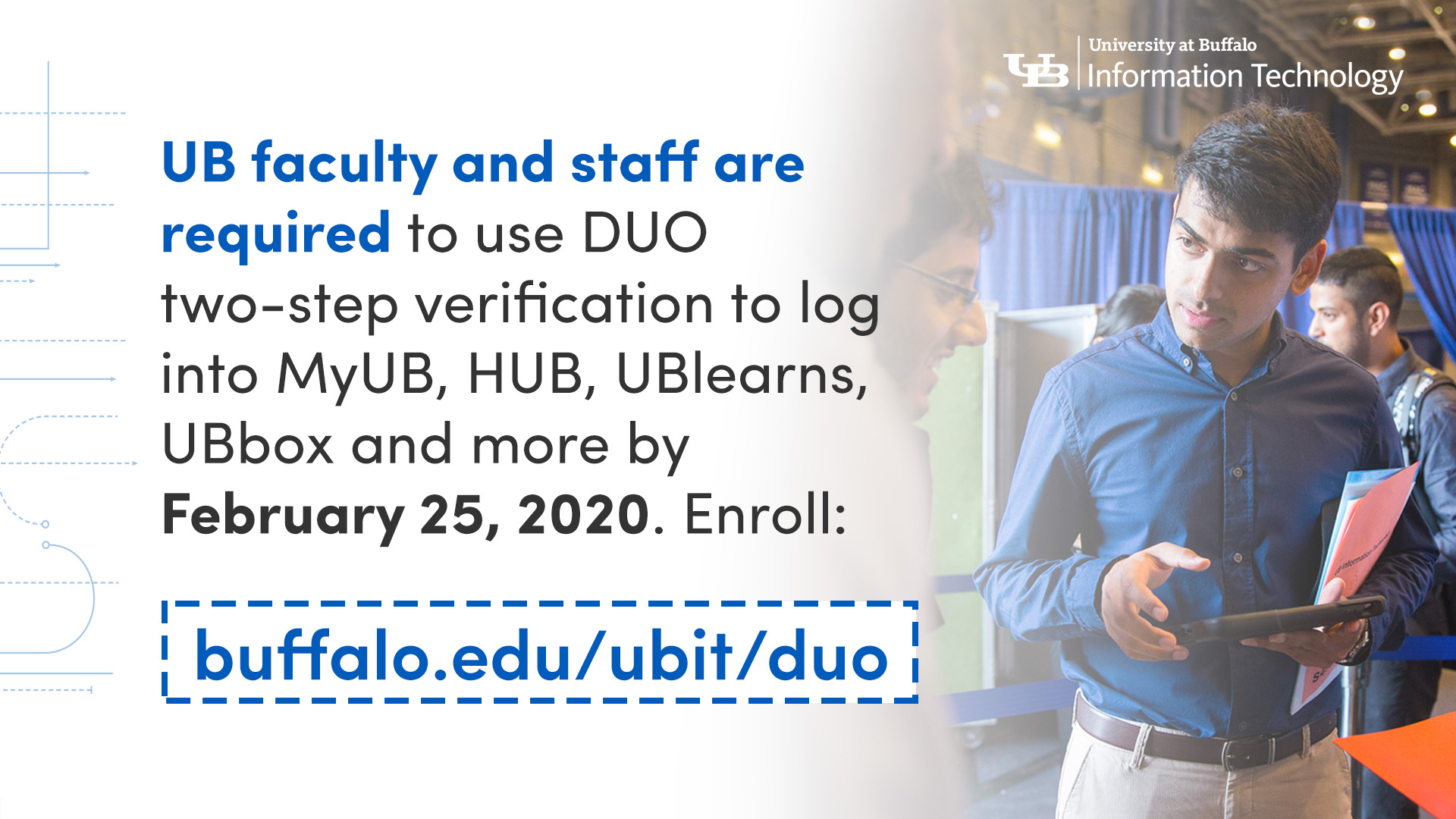 Duo required for UB faculty and staff by Feb. 11, 2020
